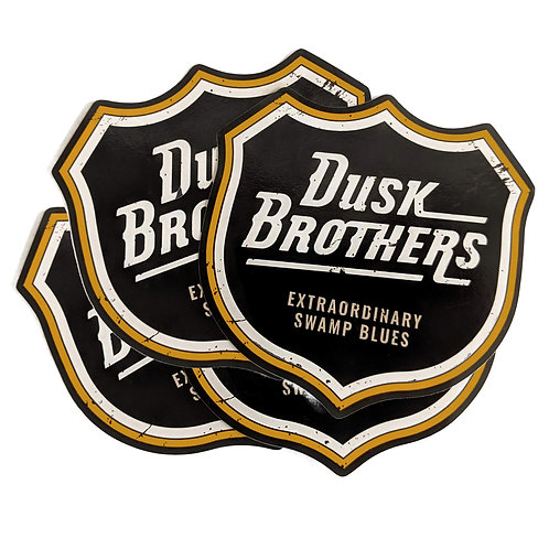 4 x Dusk Brothers Durable Weather Resistant Vinyl Sticker