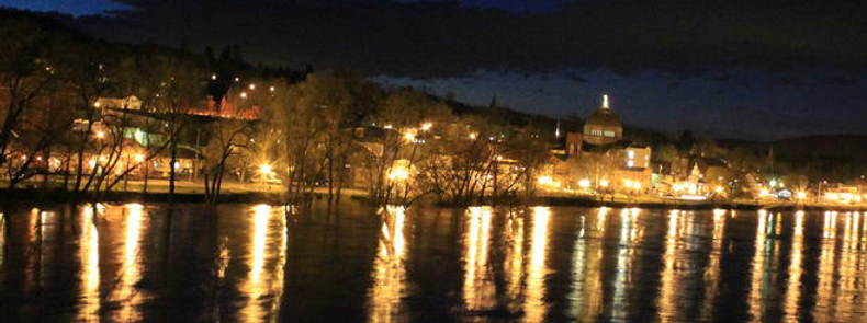 River view of Towanda Courthouse
