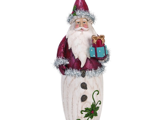 "12"" Vintage Tinsel Santa"