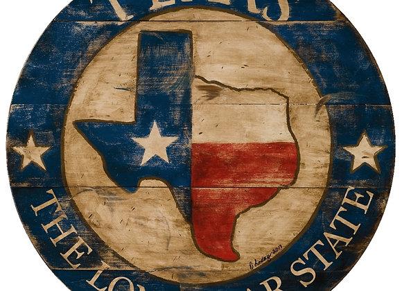 """23"""" Texas Wall Art"""