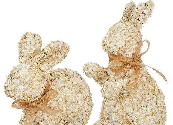 Floral rabbits - Sold as pair