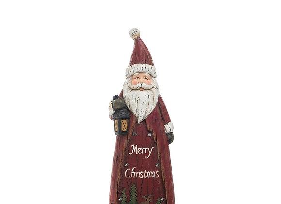 Light Up Santa Figurine