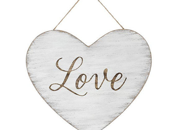Distressed Love Heart Wall Hanging