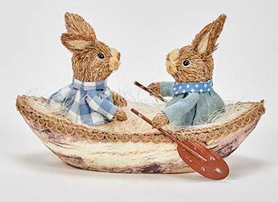 """Bunnies in 8"""" Boat"""