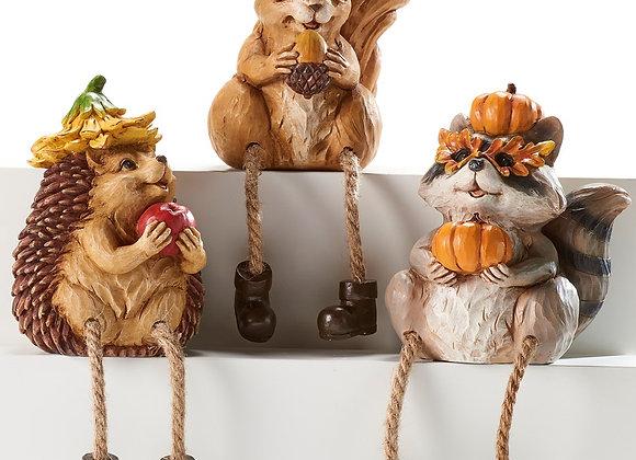 Harvest Decor Shelf Sitters - Set of 3