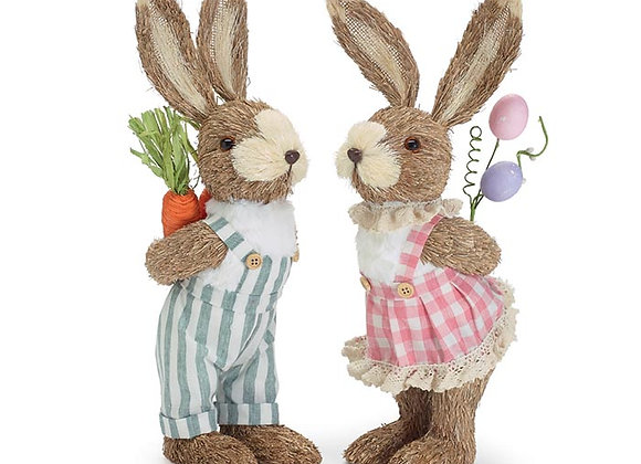 Bunny Couple Rubbing Noses - Set of 2
