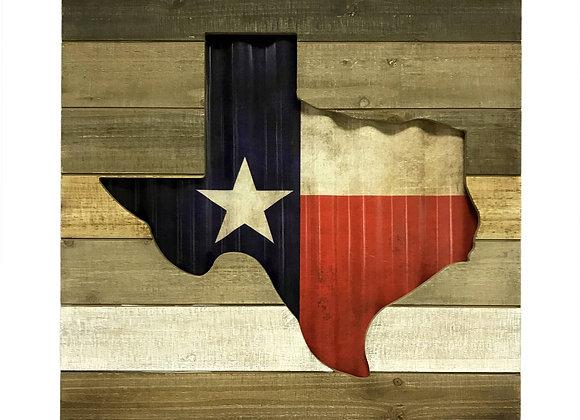 Texas Shadow Box Flag