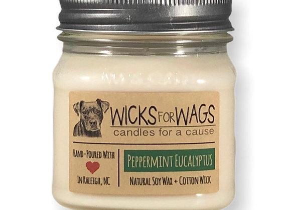 Peppermint Eucalyptus Soy Candle
