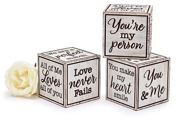 Distressed Love Messages Block