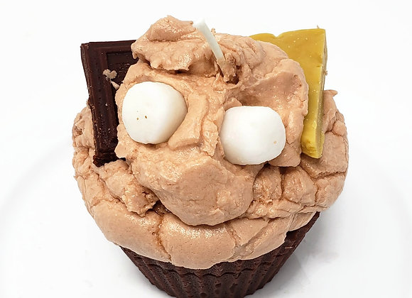 S'mores Scented Cupcake Candle