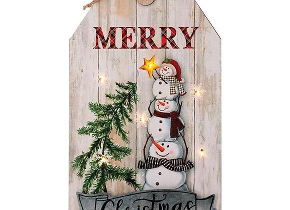 """15"""" Wood Snowman Hanger"""
