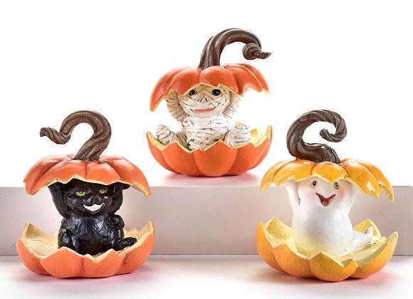 Pumpkin Light Up Figurine -Sold Individually