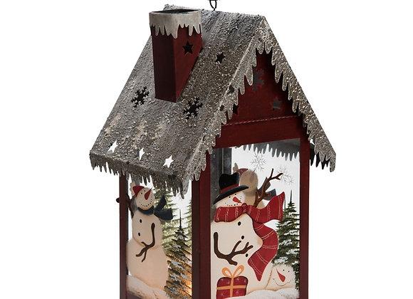Metal Snowman House Lantern