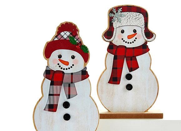 Standing Snowman Couple - Set of 2