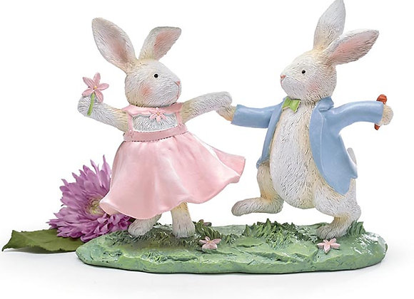 Dancing Bunny Figurine