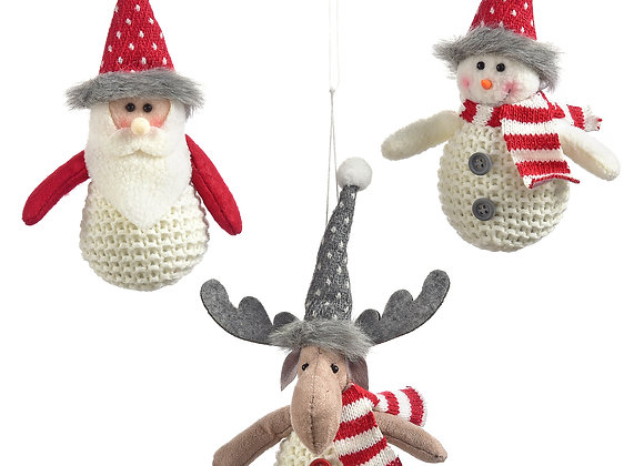 Fabric Ornaments - Sold individually