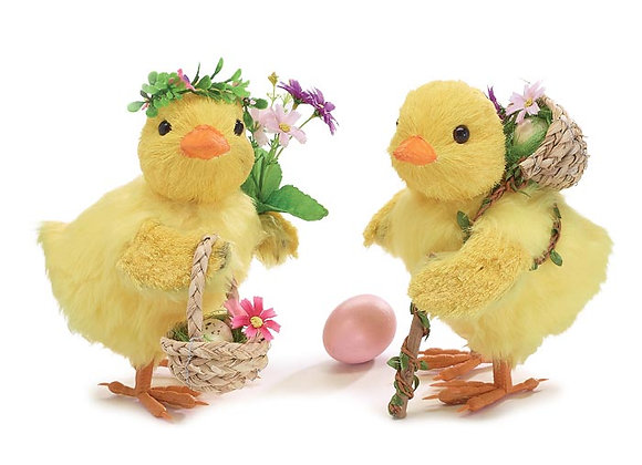 """8.5"""" Easter Chick Couple"""