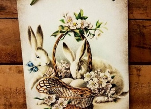 Victorian Easter Bunny Wall Hanging