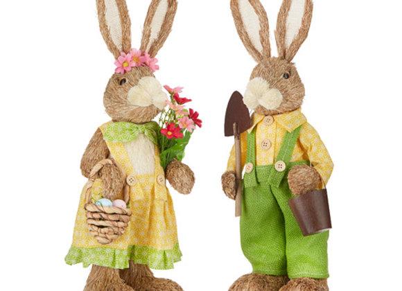 Gardening Bunny Couple