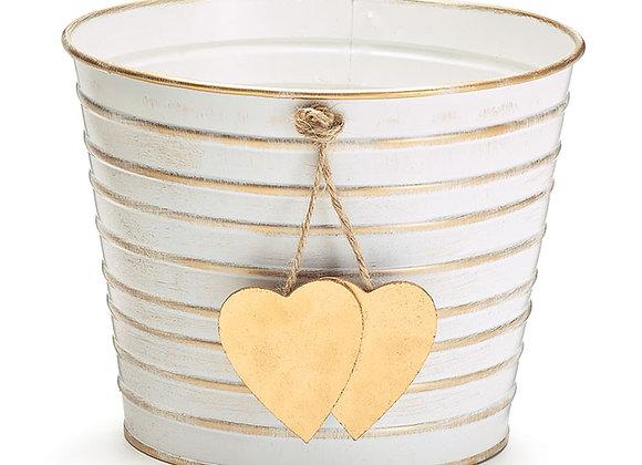 """6"""" Dangling Hearts Pot Cover"""