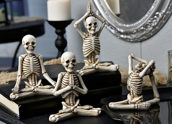 Yoga Skeletons - Set of 4