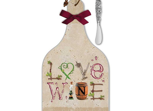 Wine Letters Cheese Server