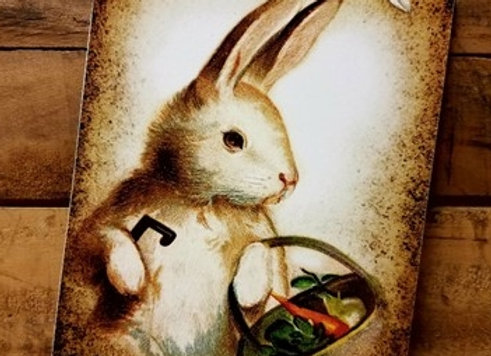 Vintage Easter Bunny Wall Hanging