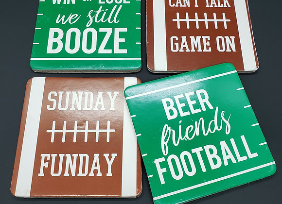 Game Day Printed Coasters - Set of 4