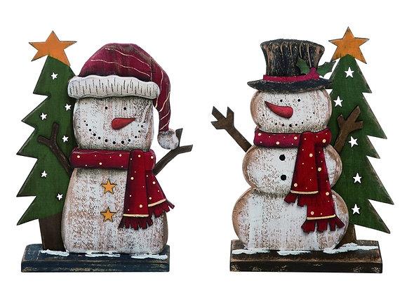 """12"""" White Christmas Snowman - Set of 2"""