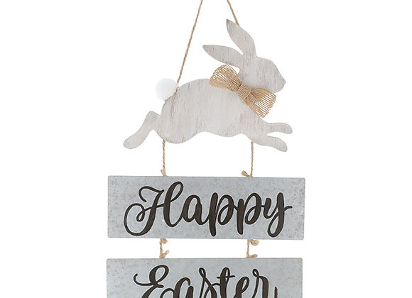 Happy Easter Wall Hanging w/Bunny