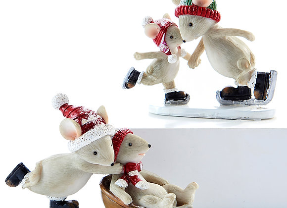 Two Mice Figurines - Set of 2