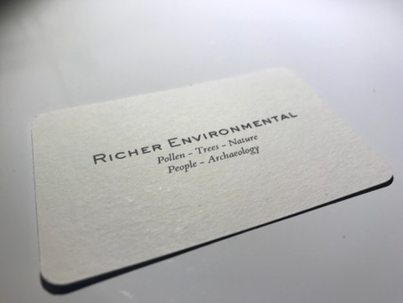 No trees were harmed in the making of these business cards