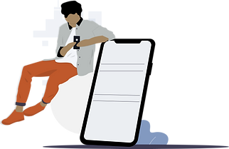 Guy Sitting On Mobile Phone.png
