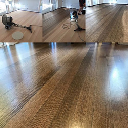 The home owner decided this tired Tass Oak floor needed some love and a colour change.jpg