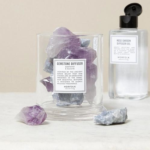 Amethist & Calcite - Gemstone Diffuser