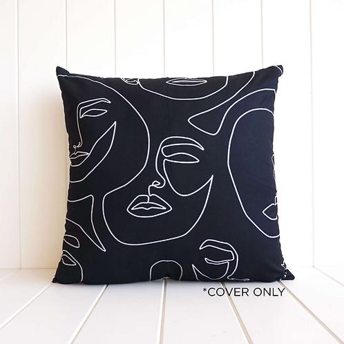 Line Faces cushion cover - 45x45