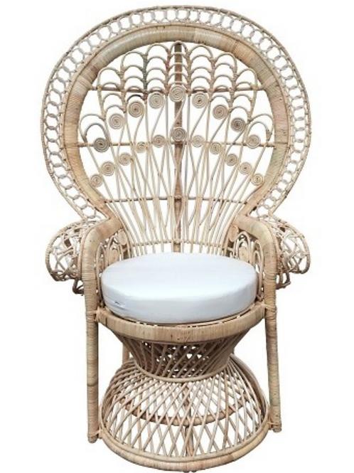 Cane Peacock Chair Natural