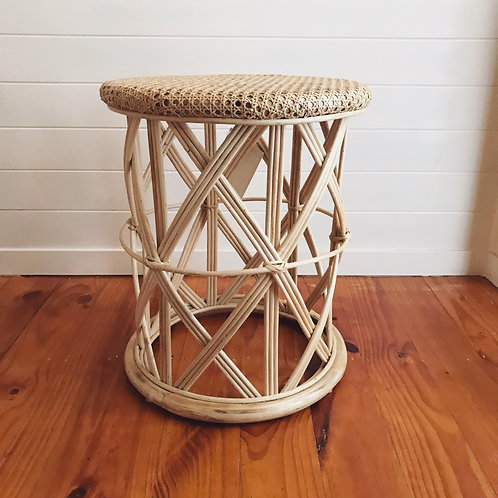 Cane Stool / Side Table
