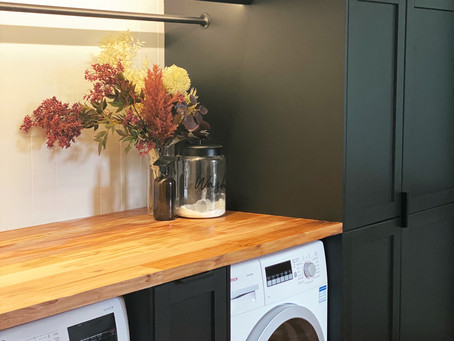 Creating a functional euro laundry using Ikea cabinetry
