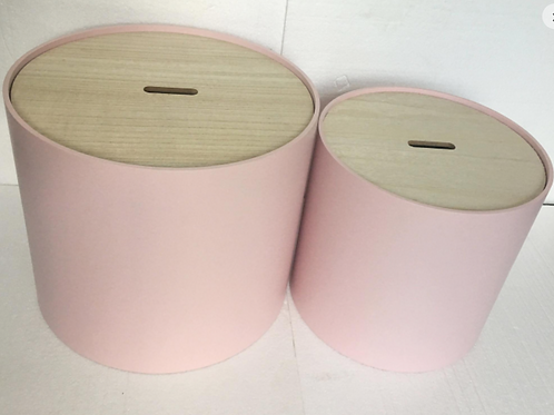 Pink Storage Side Table