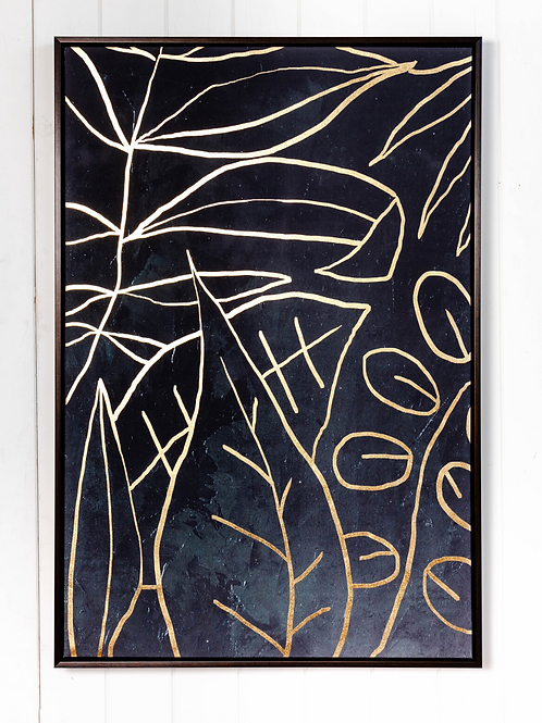 Line Drawing Leaves - 62x92
