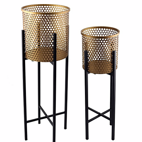 Nested Luxe Stilted Beehive Planters - Set of 2