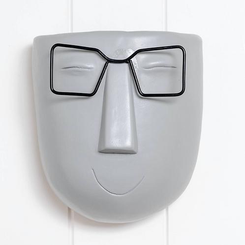 Wall Planter - Harry Face Pot - Grey