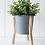 Thumbnail: Malik Planter Large - Tin & Timber Natural