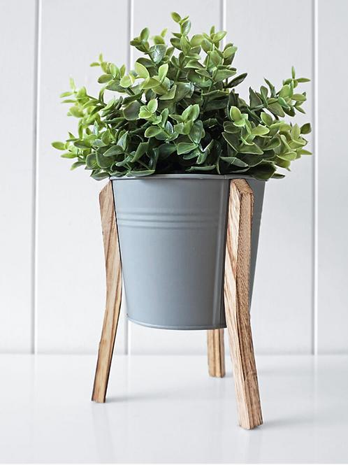 Malik Planter Large - Tin & Timber Natural