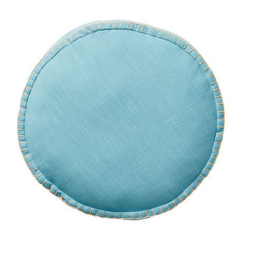 Rylie Round Cushion - Turquoise