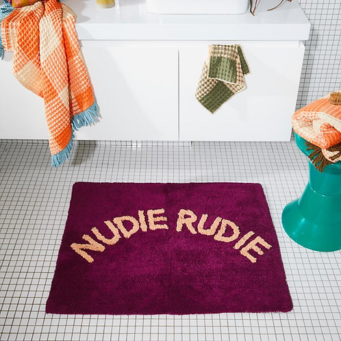 Nudie Rudie bath mat - Boysenberry