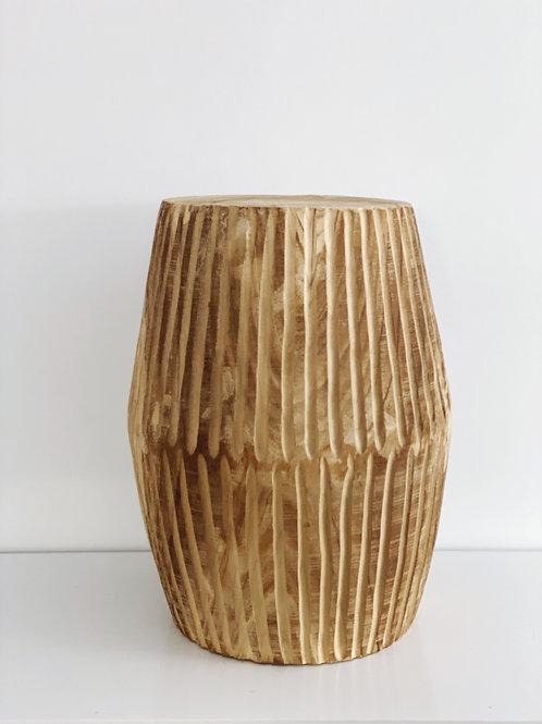 Carved Wyatt stool