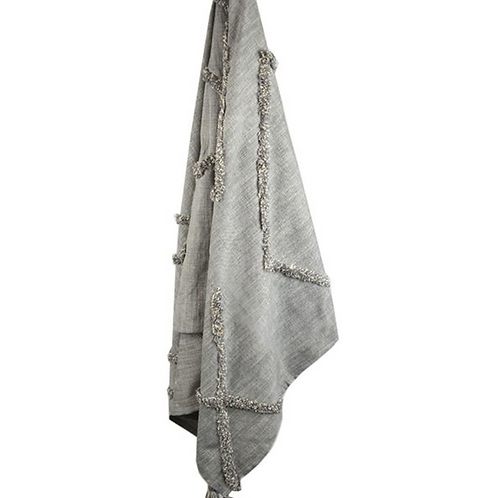 Serai grey cotton throw