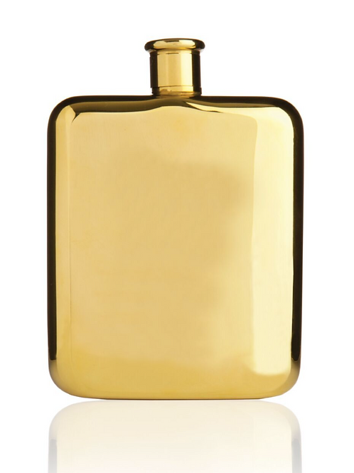 Belmont gold plated flask by VISKI